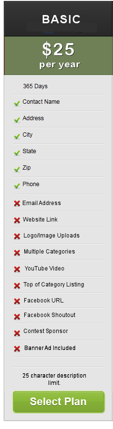 Basic Business Listing