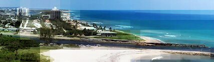 A glimpse of Jupiter Beach Inlet
