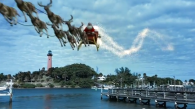 Video of Santa and the Jupiter Lighthouse